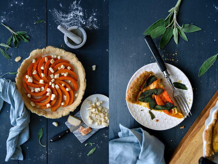 Pumpkin Quiche with Taleggio and Crisp Sage