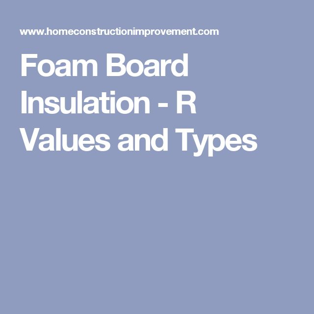 Best 25 foam board insulation ideas on pinterest for Window insulation values