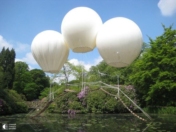 Подвесной мост на трех воздушных шарах - Путешествуем вместе