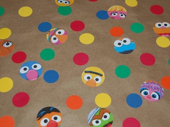 Sesame Street confetti party
