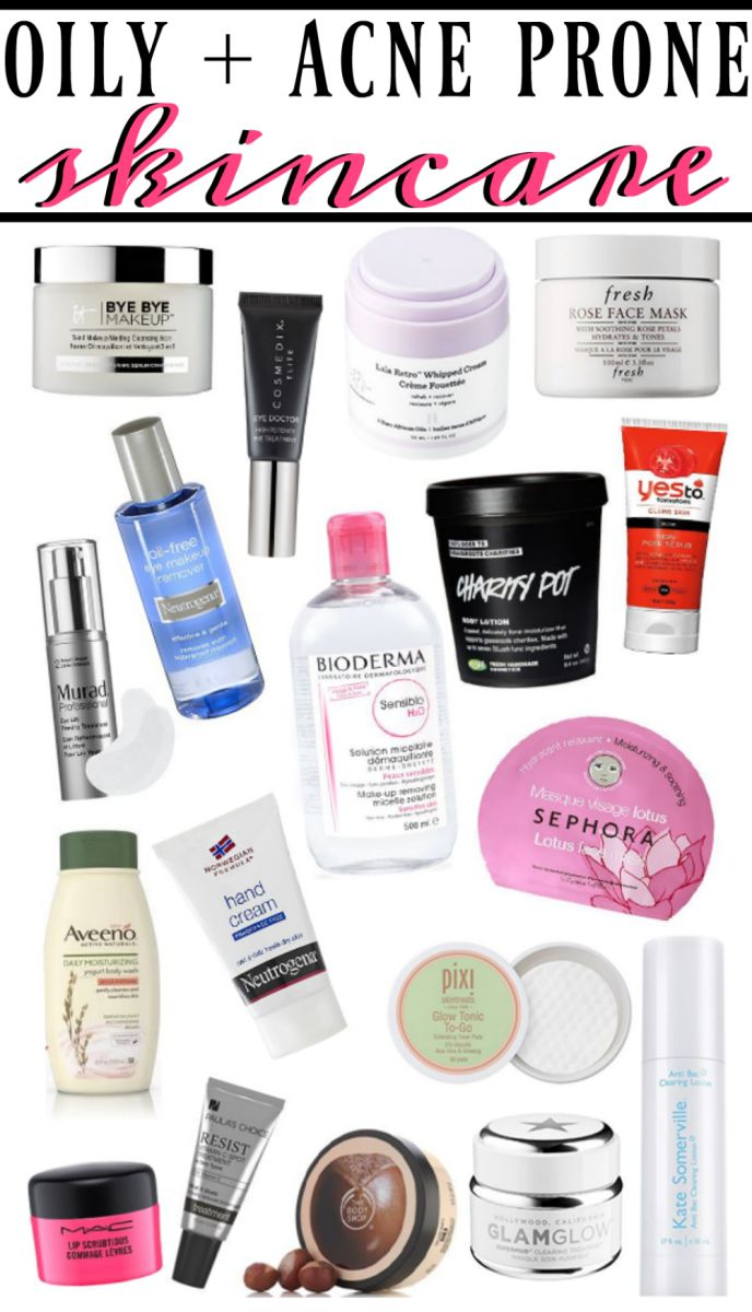 Skincare favorites for oily and acne prone skin types