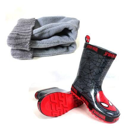 送料無料子供の靴男の子レインブーツ赤ちゃん男の子靴rainboots子供ゴム靴マーティンブーツスパイダーマン靴男の子