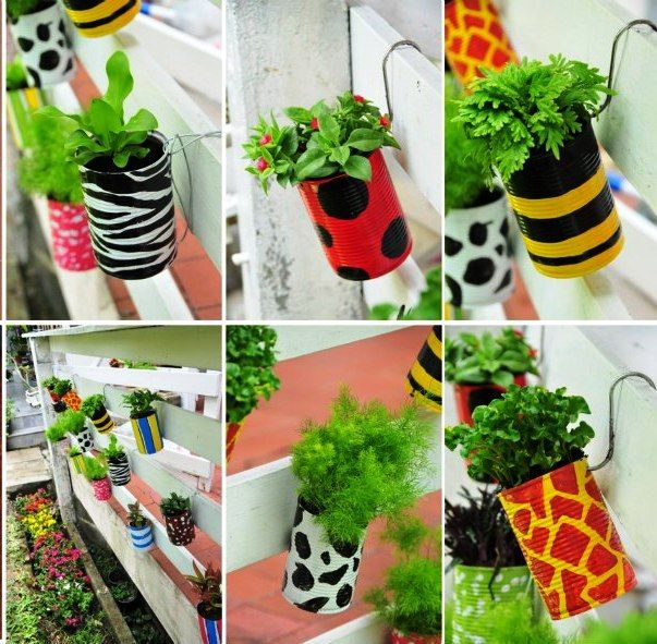 Got cans? Recycle them by making these adorable planters. Great project for the kiddos!