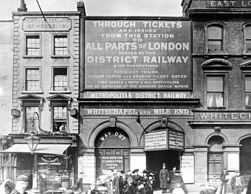 Whitechapel Tube Station, Whitechapel, London. *London Underground: District Line; Hammersmith & City Line*