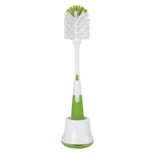 "OXO Tot Bottle Brush with Nipple Cleaner & Stand - Green - Oxo Tot  - Babies""R""Us"