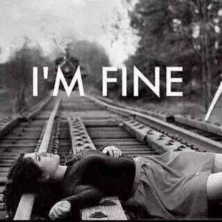 I'm fine it's ok you don't have to save me just leave me Alone