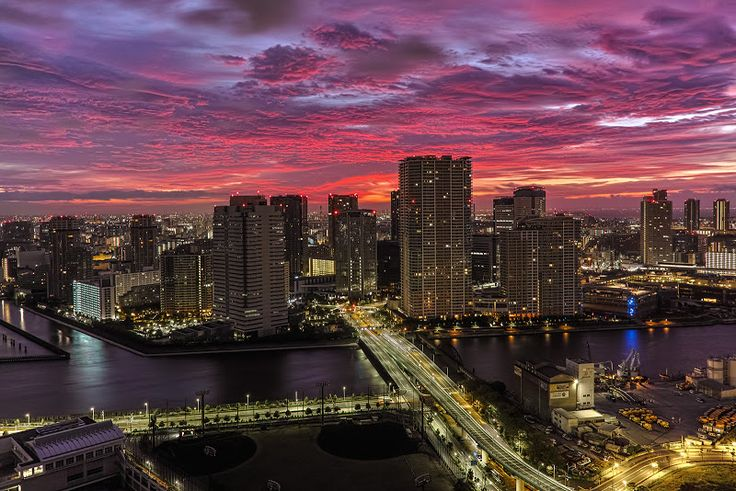 Morning glow of Tokyo / 東京の朝焼け | ひでおちゃんねる