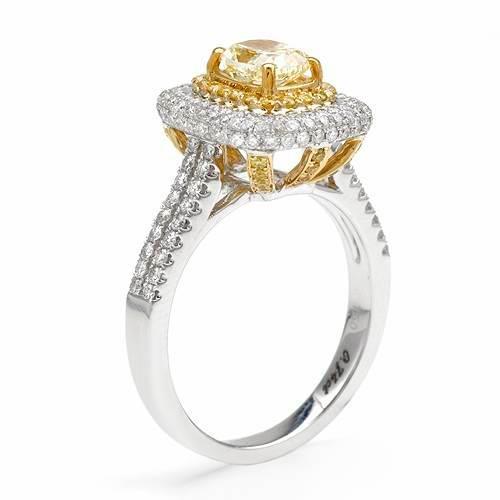 Diamond ring in 18K two-tone gold.