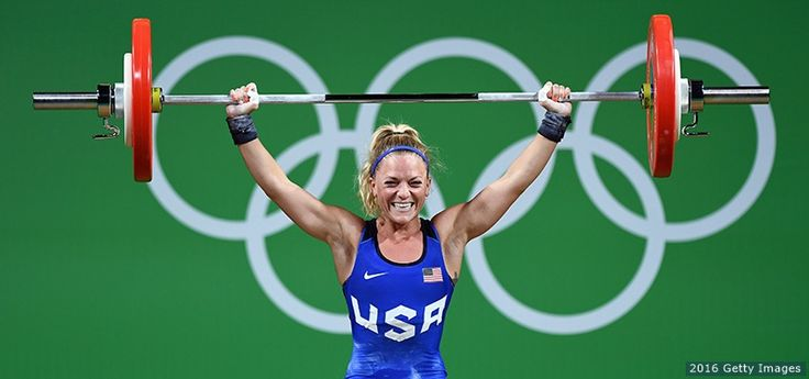 Morghan King, Weightlifting  -     Morghan King competes in the women's 48-kg. final at the Rio 2016 Olympic Games at Riocentro Pavilion 2 on Aug. 6, 2016 in Rio de Janeiro. King finished sixth in the event.