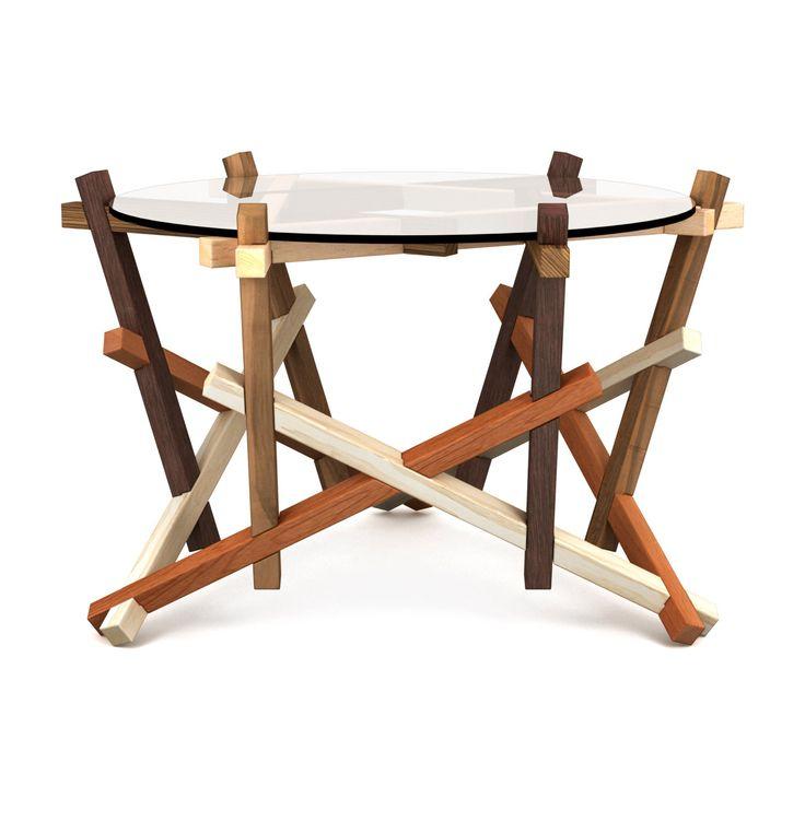6x3 puzzle round coffee table - flat pack furniture brain teaser - free shipping to EU par PRAKTRIK sur Etsy https://www.etsy.com/fr/listing/188177964/6x3-puzzle-round-coffee-table-flat-pack