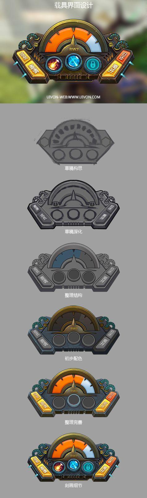 载具UI设计  GAMEUI- 游戏设计...@茶小白采集到GUI(2314图)_花瓣UI/UX: