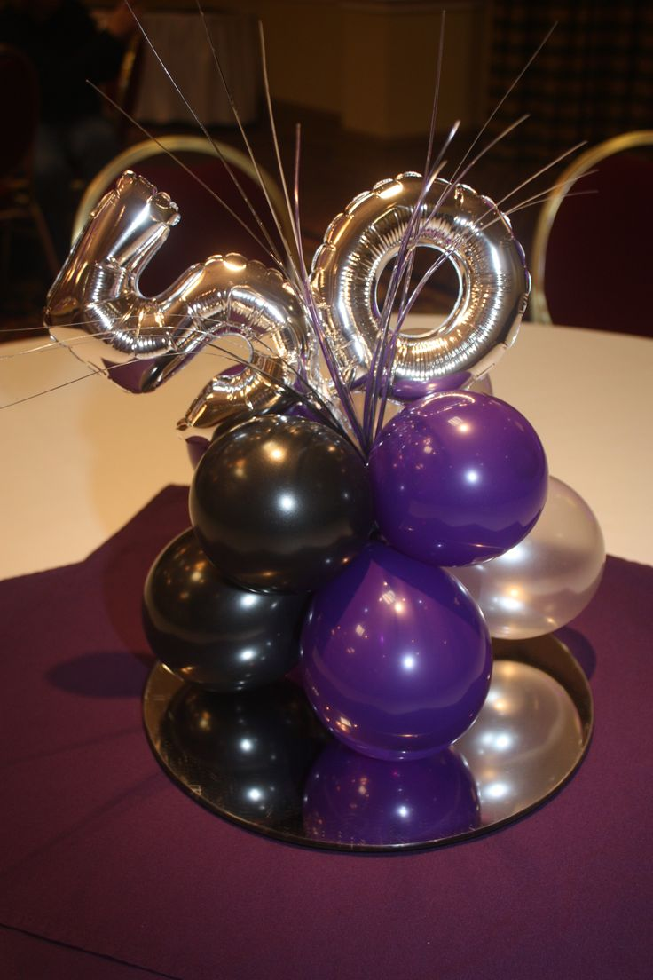 Balloon Centerpiece For 50th Birthday Ballooncenterpiece