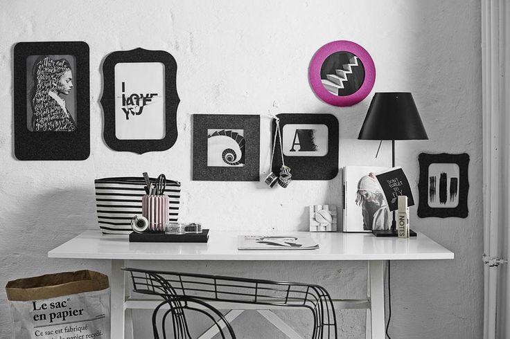 Bilderrahmen aus 100% Designfilz - Selbstklebend - spurlos wieder ablösbar - Als Pinnwand verwendbar