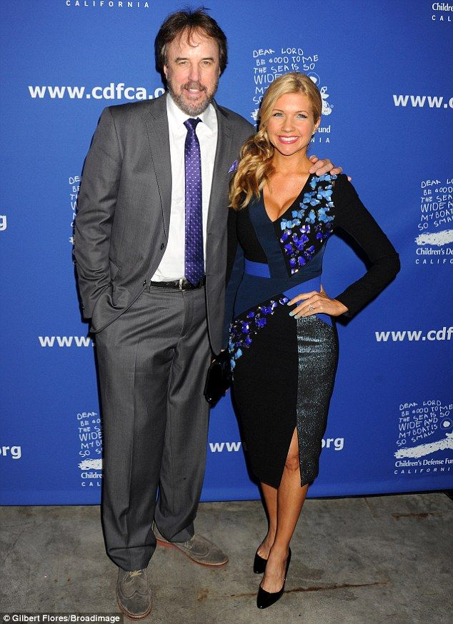 Couple's charity: Kevin Nealon and wife Susan Yeagley coordinated well with splashes of vi...