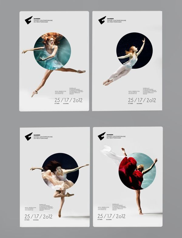 poster design - ballet - Nice combination between geometry shape and photo