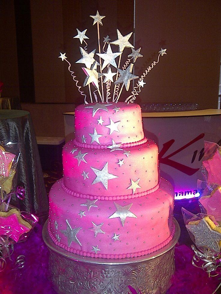 Cake Con Dise 241 O De Estrellas Plateadas Cake De 15 A 241 Os