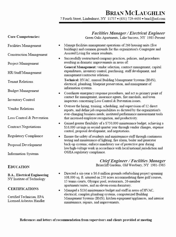 25 Apartment Maintenance Technician Resume in 2020