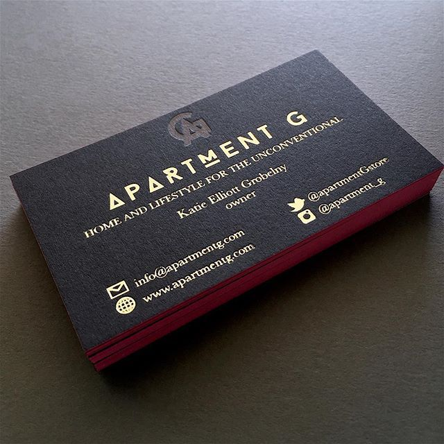 The 50 best letterpress business cards images on pinterest blind deboss with gold foil stamping then edge painted with a gorgeous colourmoves