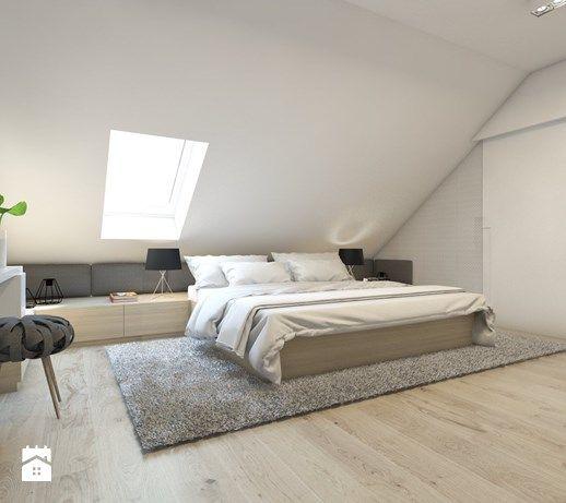 Aranżacje wnętrz - Sypialnia: Duża sypialnia małżeńska na poddaszu, styl skandynawski - BAGUA Pracownia Architektury Wnętrz. Przeglądaj, dodawaj i zapisuj najlepsze zdjęcia, pomysły i inspiracje designerskie. W bazie mamy już prawie milion fotografii!