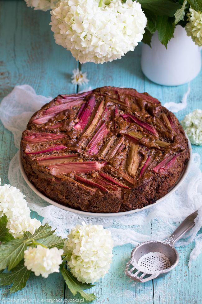 Ciasto z rabarbarem na melasie, rhubarb and treacle cake #rabarbar #rhubarb #ciasto #cake