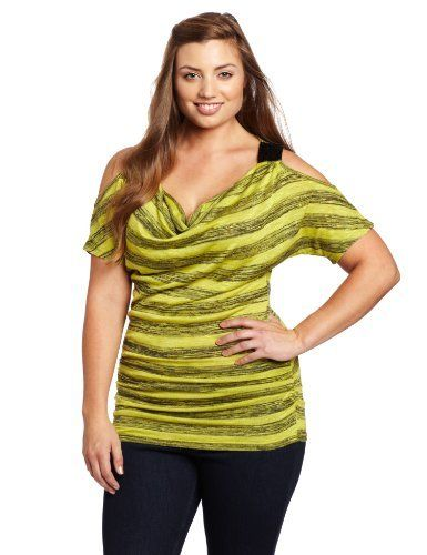 My Michelle Juniors Plus-Size Stripe Top My Michelle. $25.11. Machine Wash. Drape neck. Sparkle detail. 78% Rayon/22% Polyester. Made in China
