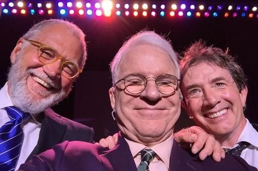 ET Canada   Blog - WATCH: David Letterman Makes Surprise Visit To Martin Short/Steve Martin Stage Show in Texas.