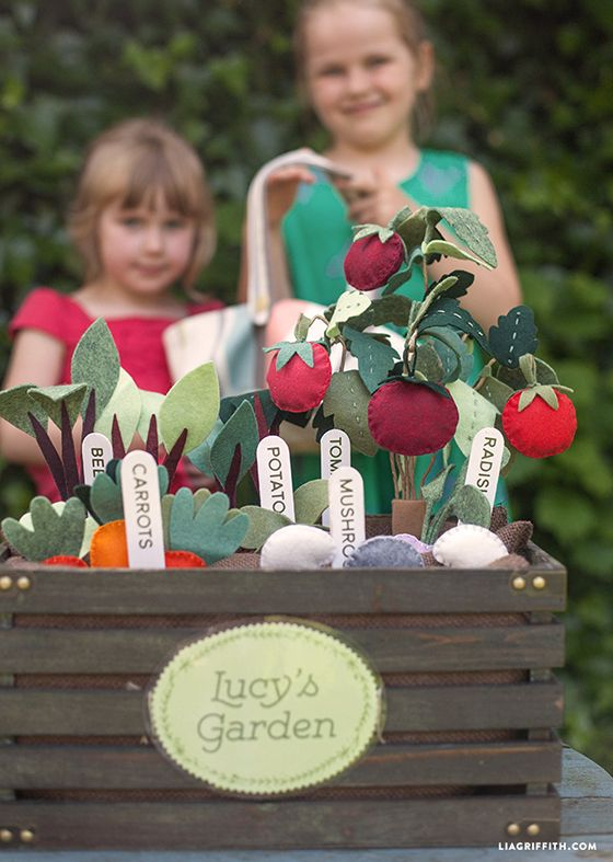 DIY Felt Veggie Garden - Lia Griffith