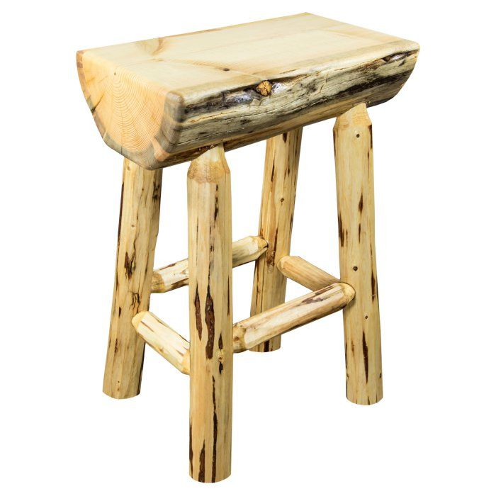 Enjoyable Montana Woodworks Montana 24 In Indoor Outdoor Half Log Squirreltailoven Fun Painted Chair Ideas Images Squirreltailovenorg