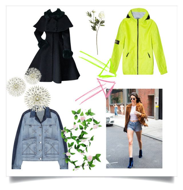 """Cool Jacket.."" by yagna ❤ liked on Polyvore featuring STONE ISLAND, Kenzo, WALL and Crate and Barrel"