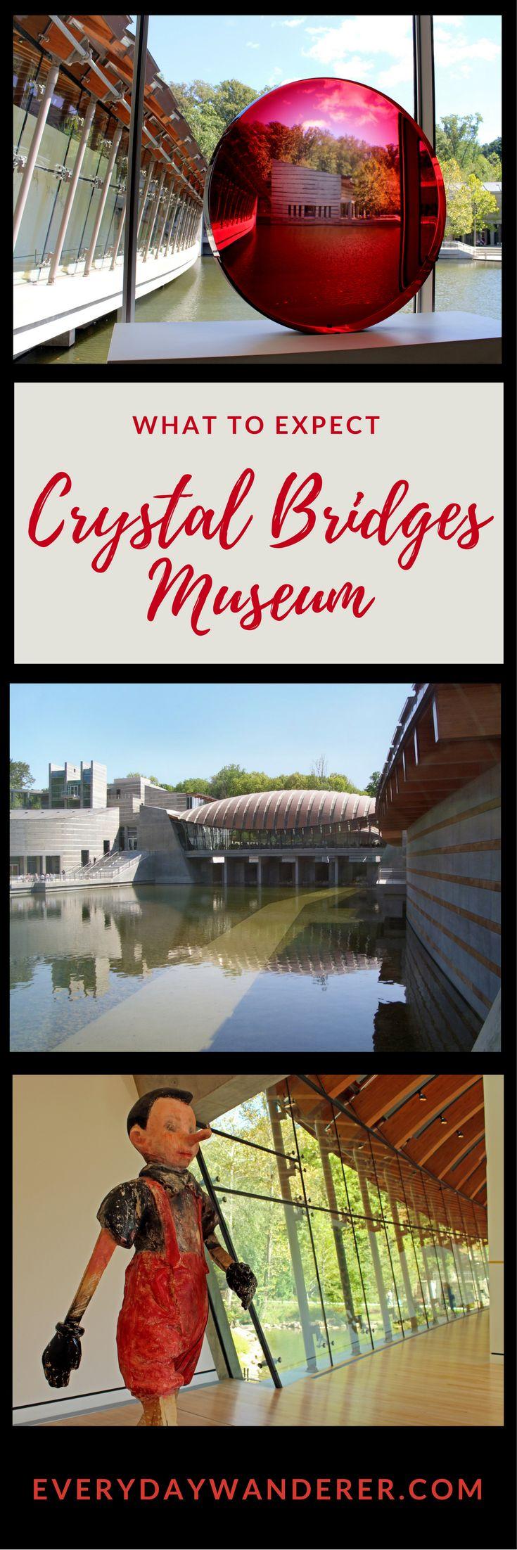 Crystal Bridges Museum of American Art in Bentonville, Arkansas.  What to expect when you visit.  #artmuseums #art #arkansas