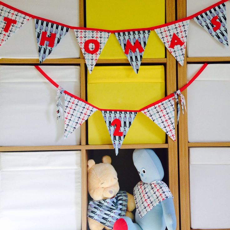 Personalised bunting, Personalized bunting, Birthday bunting, Matching bunting and bibs, Sailors and anchors bunting, Baby bunting, Baby bib
