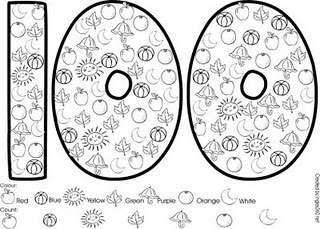 Free!! Very cute 100th day printable!