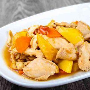 pollo troceado (o 1 kg de pechuga troceada) - 1 lata mediana de piña en su jugo o media piña fresca en rodajas - 1 cucharadita de comino en polvo – 1 cuchar ...