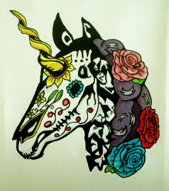 Image result for sugar skull unicorn
