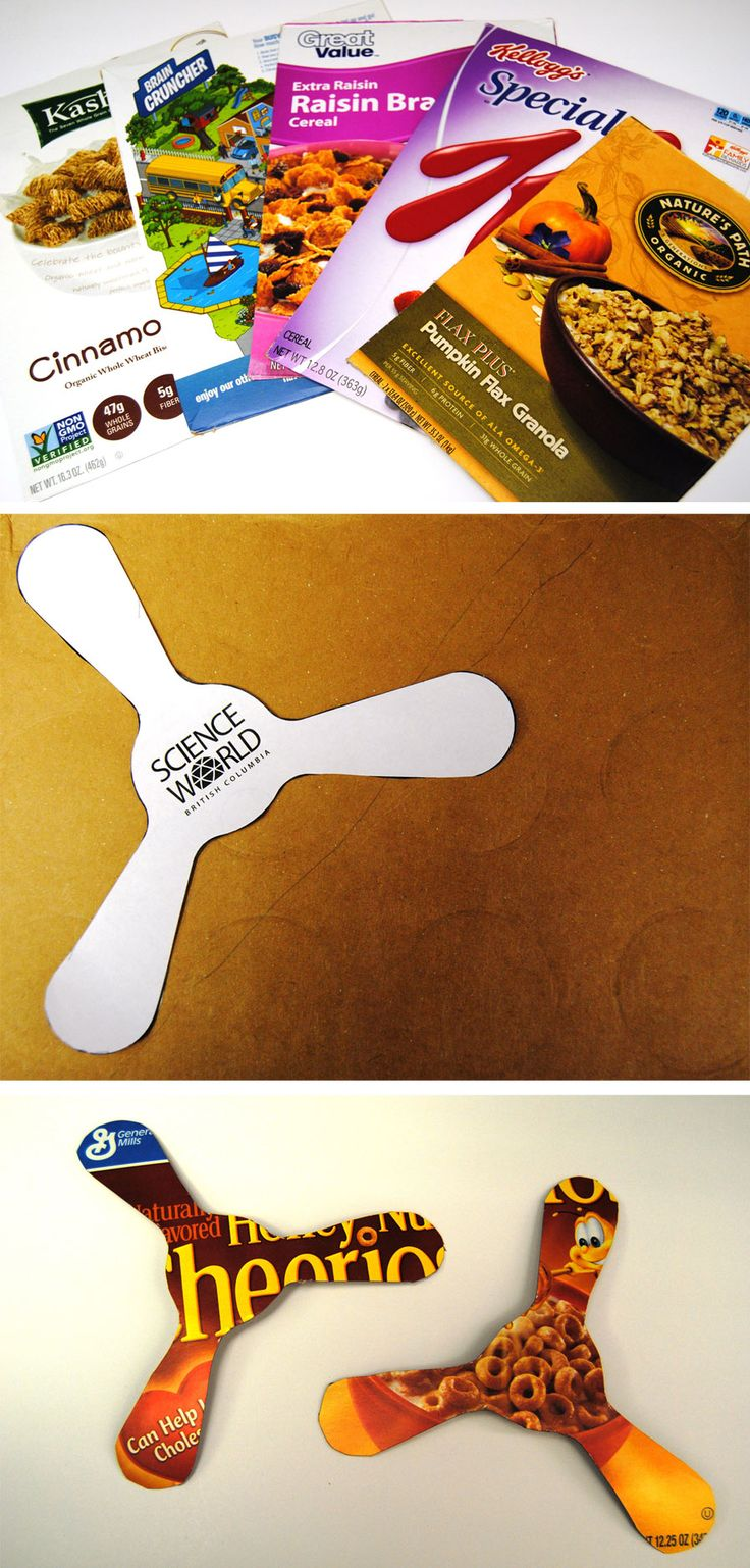 #DIY recycled boomerangs in honor of tomorrow's Australia Day celebration here at the Aquarium!