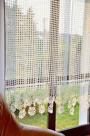 cortinas tejidas a gancho sencillas