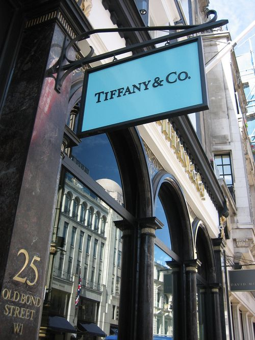 Tiffany - where I tried on rings for the first time!