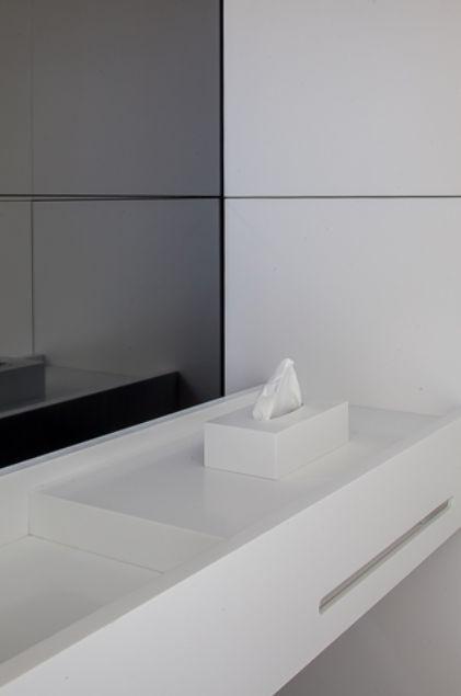 Project D te R in Belgium, custom corian bathroom by Deco-lust _