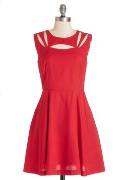 Impressive Matters Dress. Slip into this fiery-red dress and make your love swoon tout suite! #red #modcloth