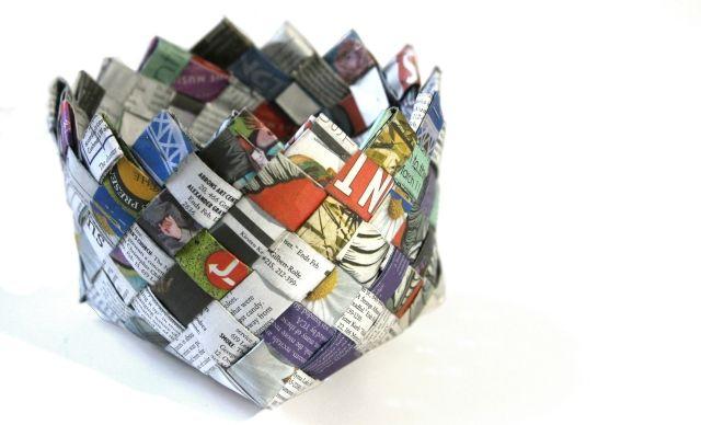 16 Newspaper Basket 05A: 16 Week, Baskets Weaving, R S Blog, Diy Crafts, Newspaper Baskets, 16 Newspaper, Big Baskets, Baskets 05A, Things Blog