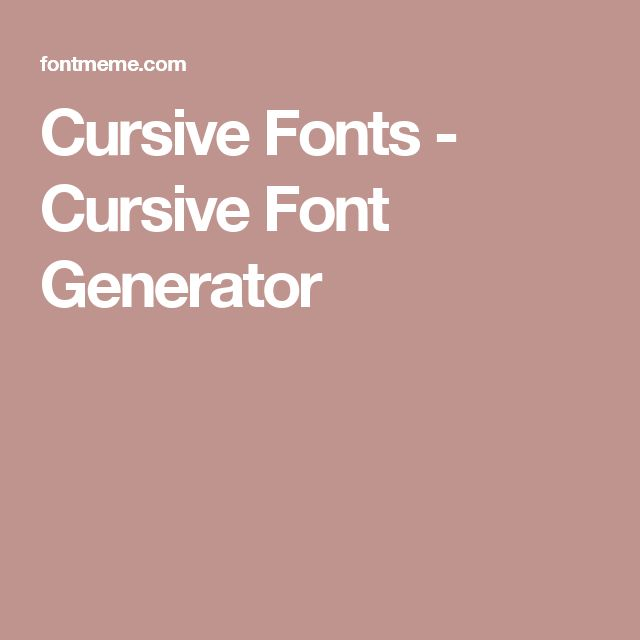 Cursive writing tattoo generator Coursework Sample