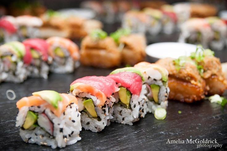 Rainbow Sushi + Spicy Tuna on Crispy Rice