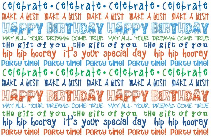Happy Birthday Placemats Free Printables