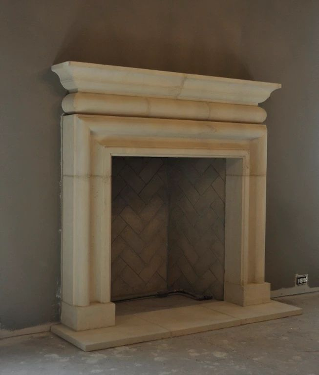 how to clean limestone fireplace