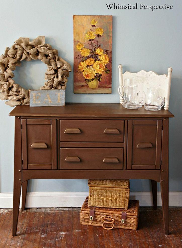 Annie Sloan Chalk Paint Custom Color Brown Bronze Painted Bedroom Furniture Staging Furniture Brown Furniture
