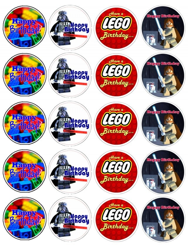 Free Lego printable. Attach to a toothpick and back with scrapbook paper for cupcake toppers or use as invitation seals. I can see many uses!