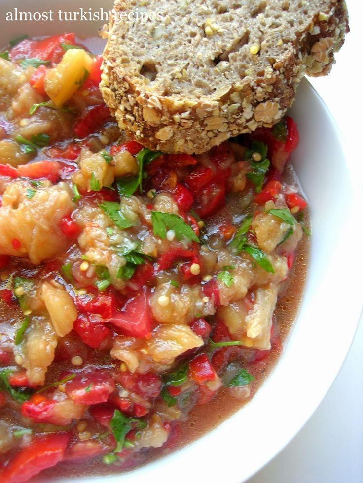 Almost Turkish Recipes: Thracian Roasted Eggplant Salad (Tunçilik)