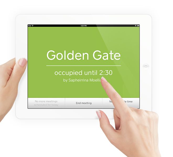 iPad meeting room booking system.... Madison meets with them 2nd week in Feb. in SF.