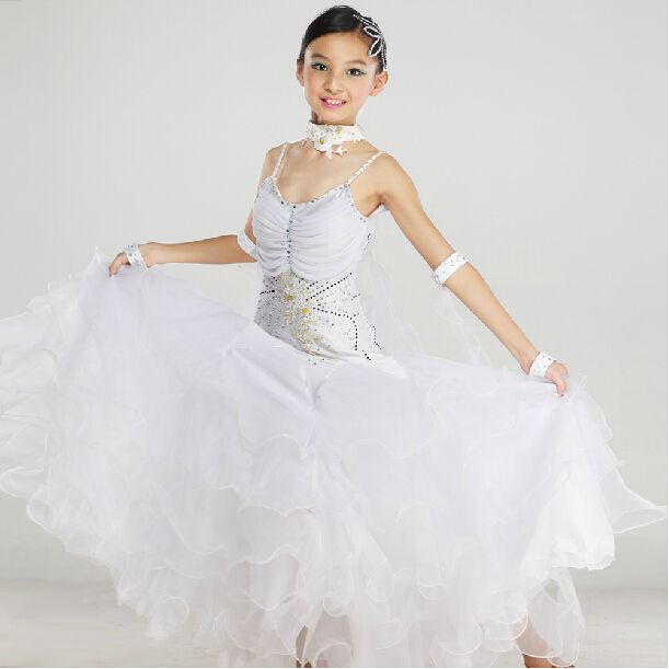 Cheap child birthday party games, Buy Quality children girl dress directly from China dress shoes for children Suppliers: New 2015 High Quality Kids Girls Pink White Waltz Tango Dancing Competition Standard Ballroom Dress Children &n