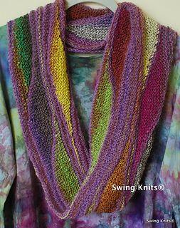 Swing Knits® Magical Möbius-Moebius Infinity Cowl, Hood, and Wrap by Brigitte Elliott